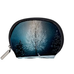 Winter Wintry Snow Snow Landscape Accessory Pouches (small)