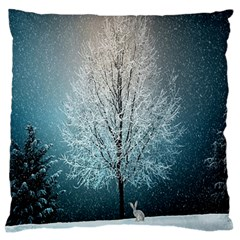 Winter Wintry Snow Snow Landscape Standard Flano Cushion Case (two Sides)