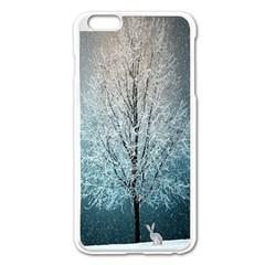 Winter Wintry Snow Snow Landscape Apple Iphone 6 Plus/6s Plus Enamel White Case
