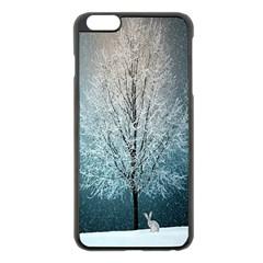 Winter Wintry Snow Snow Landscape Apple Iphone 6 Plus/6s Plus Black Enamel Case