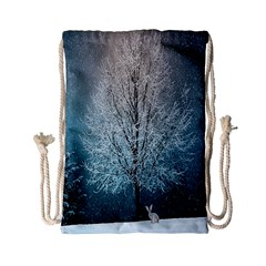 Winter Wintry Snow Snow Landscape Drawstring Bag (small)