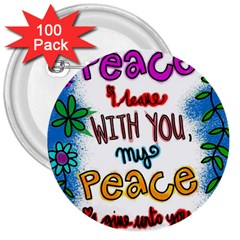 Christian Christianity Religion 3  Buttons (100 Pack)