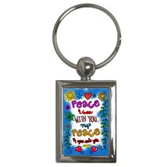 Christian Christianity Religion Key Chains (rectangle)