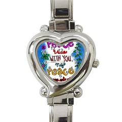 Christian Christianity Religion Heart Italian Charm Watch