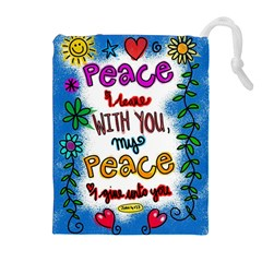 Christian Christianity Religion Drawstring Pouches (extra Large)