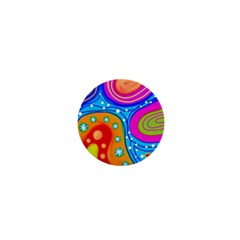 Abstract Pattern Painting Shapes 1  Mini Buttons