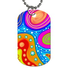 Abstract Pattern Painting Shapes Dog Tag (one Side)