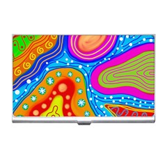 Abstract Pattern Painting Shapes Business Card Holders