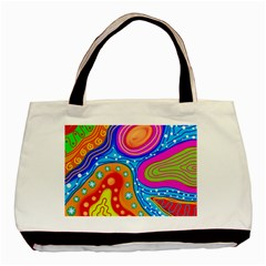Abstract Pattern Painting Shapes Basic Tote Bag (two Sides)
