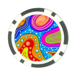 Abstract Pattern Painting Shapes Poker Chip Card Guard