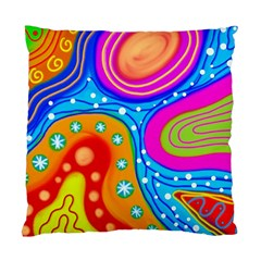 Abstract Pattern Painting Shapes Standard Cushion Case (one Side)