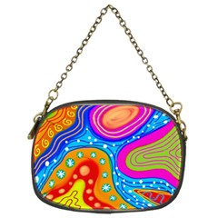 Abstract Pattern Painting Shapes Chain Purses (two Sides)