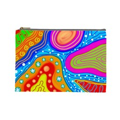 Abstract Pattern Painting Shapes Cosmetic Bag (large)