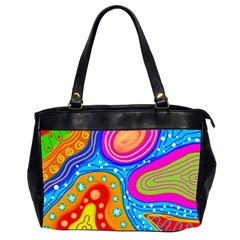 Abstract Pattern Painting Shapes Office Handbags (2 Sides)