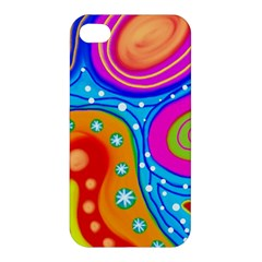 Abstract Pattern Painting Shapes Apple Iphone 4/4s Premium Hardshell Case