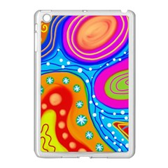 Abstract Pattern Painting Shapes Apple Ipad Mini Case (white)
