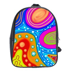 Abstract Pattern Painting Shapes School Bag (xl)