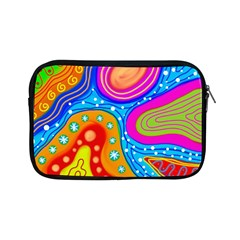 Abstract Pattern Painting Shapes Apple Ipad Mini Zipper Cases