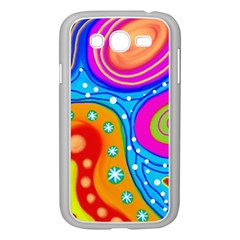 Abstract Pattern Painting Shapes Samsung Galaxy Grand Duos I9082 Case (white)