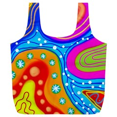Abstract Pattern Painting Shapes Full Print Recycle Bags (l)