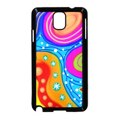Abstract Pattern Painting Shapes Samsung Galaxy Note 3 Neo Hardshell Case (black)