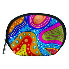 Abstract Pattern Painting Shapes Accessory Pouches (medium)