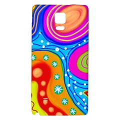 Abstract Pattern Painting Shapes Galaxy Note 4 Back Case