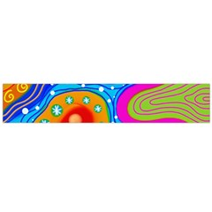 Abstract Pattern Painting Shapes Large Flano Scarf