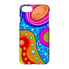 Abstract Pattern Painting Shapes Apple Iphone 7 Hardshell Case