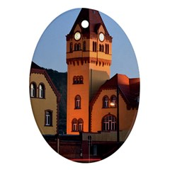 Blue Hour Colliery House Ornament (oval)