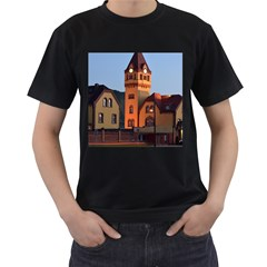 Blue Hour Colliery House Men s T Shirt (black) (two Sided)