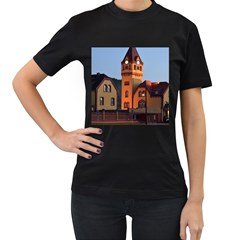 Blue Hour Colliery House Women s T Shirt (black) (two Sided)
