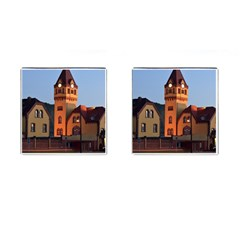 Blue Hour Colliery House Cufflinks (square)