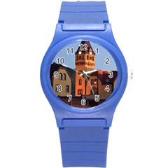 Blue Hour Colliery House Round Plastic Sport Watch (s)