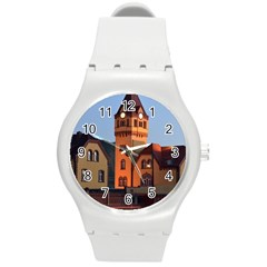 Blue Hour Colliery House Round Plastic Sport Watch (m)