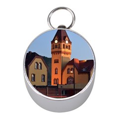 Blue Hour Colliery House Mini Silver Compasses