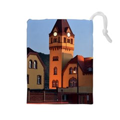 Blue Hour Colliery House Drawstring Pouches (large)