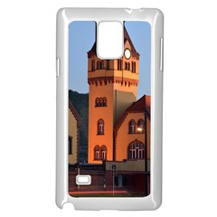 Blue Hour Colliery House Samsung Galaxy Note 4 Case (white)