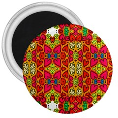 Abstract Background Pattern Doodle 3  Magnets