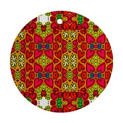 Abstract Background Pattern Doodle Ornament (round)