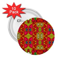 Abstract Background Pattern Doodle 2 25  Buttons (10 Pack)