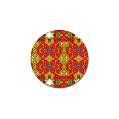 Abstract Background Pattern Doodle Golf Ball Marker