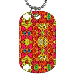 Abstract Background Pattern Doodle Dog Tag (two Sides)
