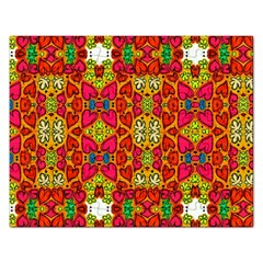 Abstract Background Pattern Doodle Rectangular Jigsaw Puzzl