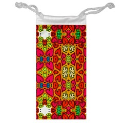 Abstract Background Pattern Doodle Jewelry Bag