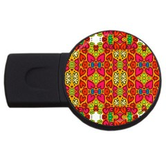 Abstract Background Pattern Doodle Usb Flash Drive Round (4 Gb)