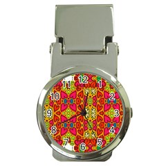 Abstract Background Pattern Doodle Money Clip Watches
