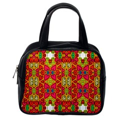 Abstract Background Pattern Doodle Classic Handbags (one Side)