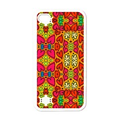 Abstract Background Pattern Doodle Apple Iphone 4 Case (white)