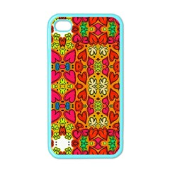 Abstract Background Pattern Doodle Apple Iphone 4 Case (color)